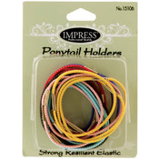 Impress 18-piece Medium Elastic Ponytail Holders (144-ct case)