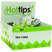 Hottips Tray Pack 3 Tips Universal Charging Cable- 12-count