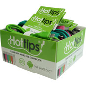 Hottips Tray Pack Micro USB Cable Assorted- 24-count