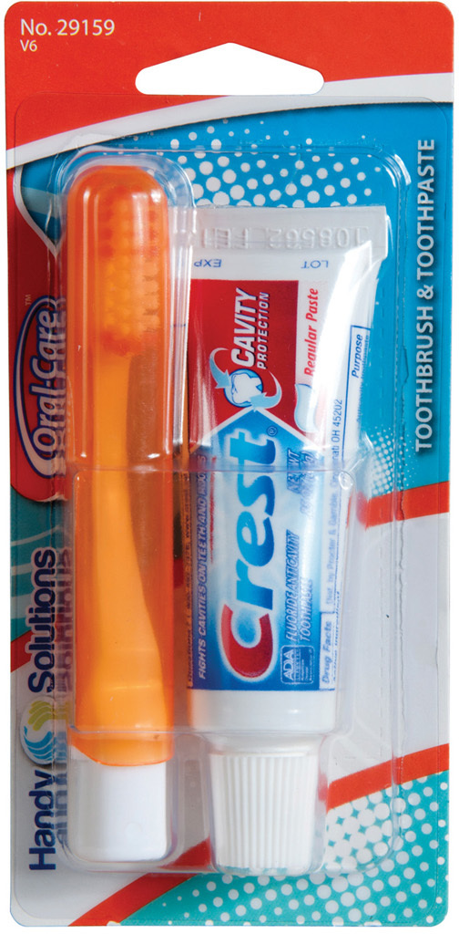 Wholesale Oral Care Travel Kit With Crest Toothpaste