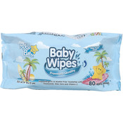 Premium Baby Wipes Blue - 80 Count