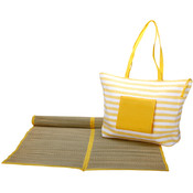 Worthy Beach Tote Bag with Mat - Yellow