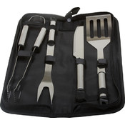 KitchenWorthy 5 Piece Stainless Steel BBQ Tool Set