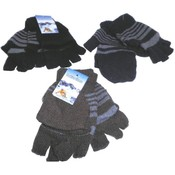 Fingerless Gloves with Mitten Cover