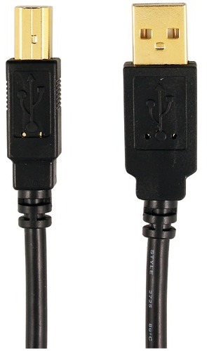 Cable Usb Male A-B 6'