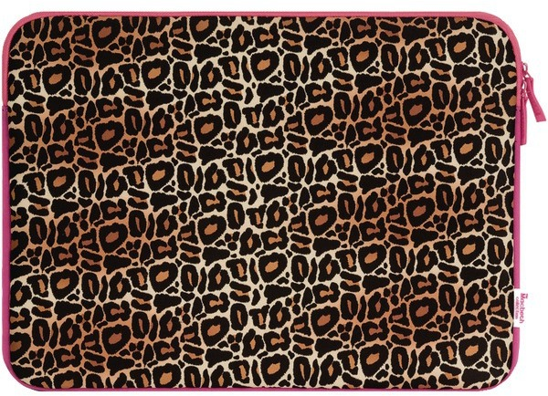 15.6In Zip Sleeve Leopard