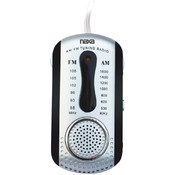 Naxa - AM/FM Mini Pocket Radio with Speaker (Black)