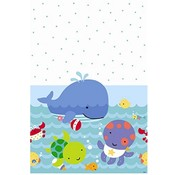 Under the Sea Plastic Tablecover 84 IN x 54 IN