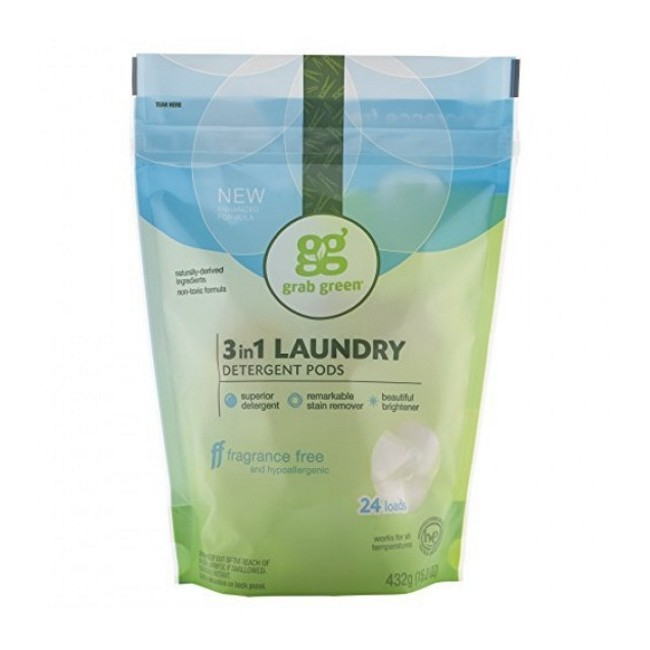 Wholesale Grab Green Natural 3 In 1 Laundry Detergent Pods