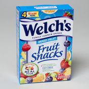 Welchs Fruit Snack 4 Count - Pouch Mixed Fruit
