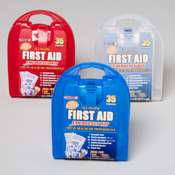 first aid 35 piece kit in plastic case - First Aid Supplies