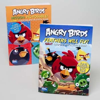 Angry Birds Bulk Giant Activity Coloring Book