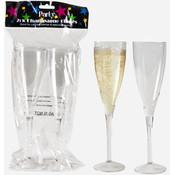 wholesale plastic champagne flutes 2 pack