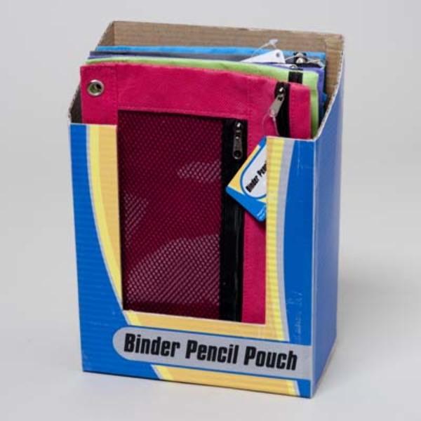 Wholesale Pencil Pouch 10x7 3 Hole Binder Ready Sku