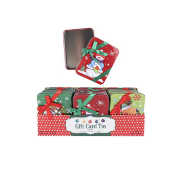 Wholesale Christmas Tin Gift Card Holder (SKU 2319509