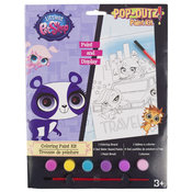 Littlest Pet Shop Paint Kit With 6 Paints and 1 Brush