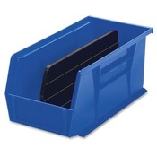 "Akro-Mils  Bins, Unbreakable/Waterproof, 5-1/2""x10-7/8""x5"", Blue"
