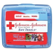Johnson & Johnson Safe Travels First Aid Kit 70 Piece Set