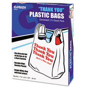 """Thank You"" Bags Printed Plastic .5mil 11 x 22"