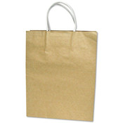 Premium Small Brown Paper Shopping Bag 50/Pack