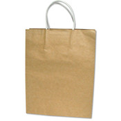 Premium Large Brown Paper Shopping Bag 50/Pack