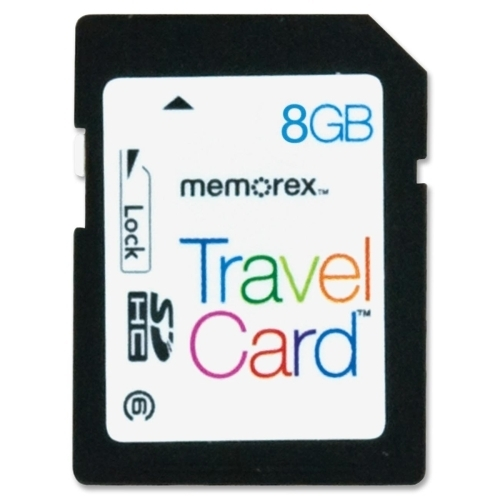 Memorex Digital Travel Card, 8GB, Black