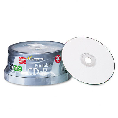 Printable CD-R Discs 700MB/80min 52x Spindle