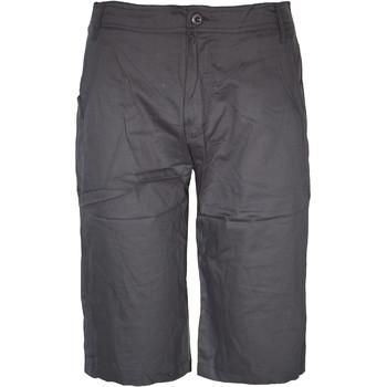 d7231c277c Wholesale Men's Long Flat Front Shorts - Dark Grey (SKU 2133493 ...