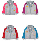 Girls Raglan Hoodie with Emoji Patches - Sizes XS-XL