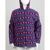 Wholesale girl s printed fleece hoodie choice of colors sku 2133258