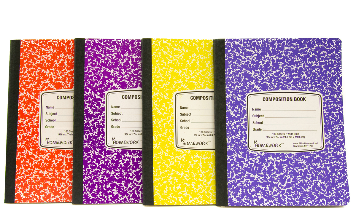 Book Cover Paper Weight : Wholesale assorted colored marble composition book sku