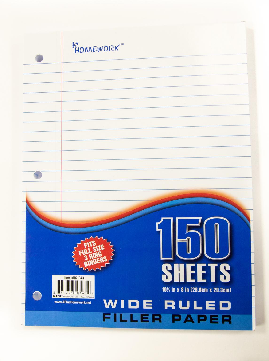 Wholesale Filler Paper - College Ruled Sheets — blogger.com