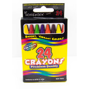 Bulk Crayons Assorted Colors - 24 Count Boxed
