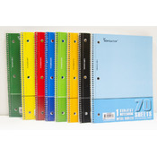 Wire Notebook- 70 sheets One Subject, Wide Ruled School Supplies
