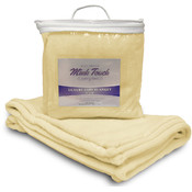 Mink Touch Baby Blanket - Soft Yellow