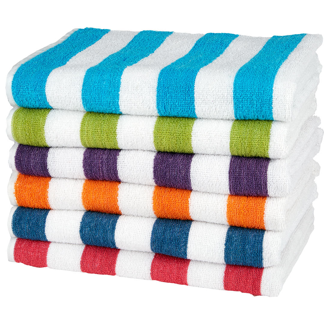 "Beach Towel: Wholesale Cabana Stripe Beach Towel 27"" X 54"" (SKU 1783771"