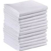 "Twin T-130 Fitted White Sheet - 39"" x 75"" x 7"""