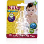 Nuby™ Fast Flow Clear Silicone Nipple 3-Pack