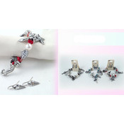 Bracelet Earring Set with Star Fish Sea Horse
