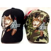 Fox With Feather Adjustable Baseball Hats