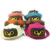 Kids Summer Sun Hat with Cute Owl Design