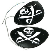 Skull and Crossed Sword Pirate Eye Patches