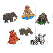 Wild Zoo Animal Temporary Tattoos