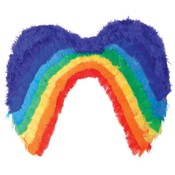 Rainbow Feather Costume Wings