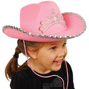 Pink Cowboy Hat with Tiara