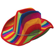 Rainbow Stripe Cowboy Hat