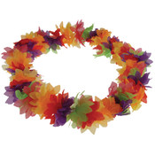 Hawaiian Deluxe Flower Leis Rainbow