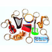Musical Instrument Key Chains
