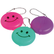 Smile Round Face Purse Keychains