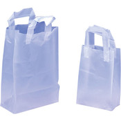 White Plastic Gift Bags - Medium